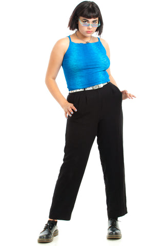 Vintage 90's Keep It Classy Black Trousers - L