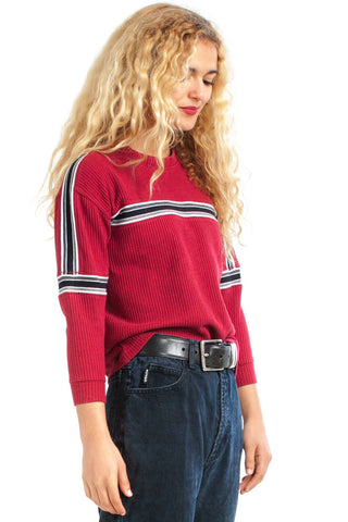 Not-Quite-Vintage Y2K Generation X Striped Pullover - XS/S/M
