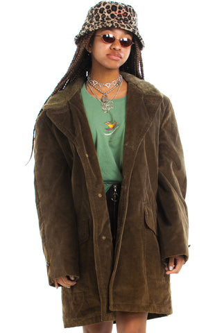 Vintage 70's Corduroy Dreamin' Overcoat - One Size Fits Many