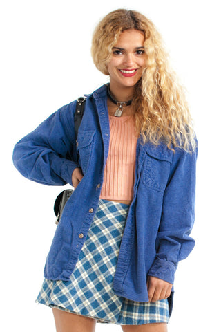 Vintage 90's Dusty Flannel Shacket - One Size Fits Many