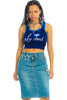 Vintage Y2K Kameso Stretch Denim Midi Skirt - S/M