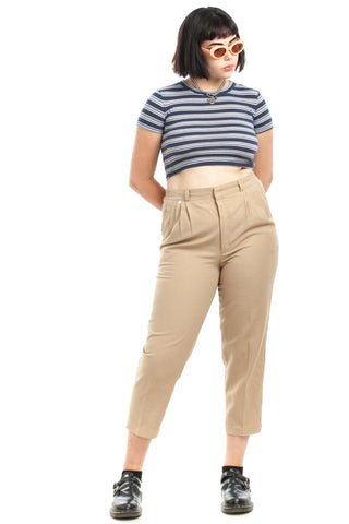 Vintage 80's Scout Pleated Trousers - L