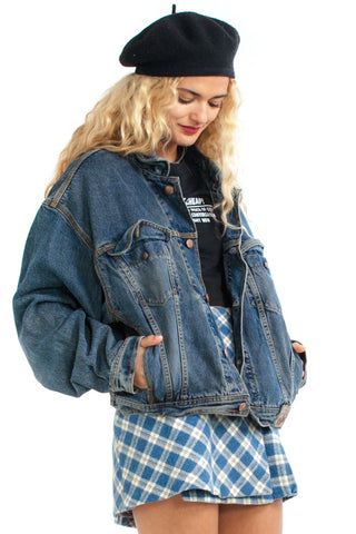 Vintage 90's Tell Your Dad Get Off My Back Denim Jacket - One Size Fits Many