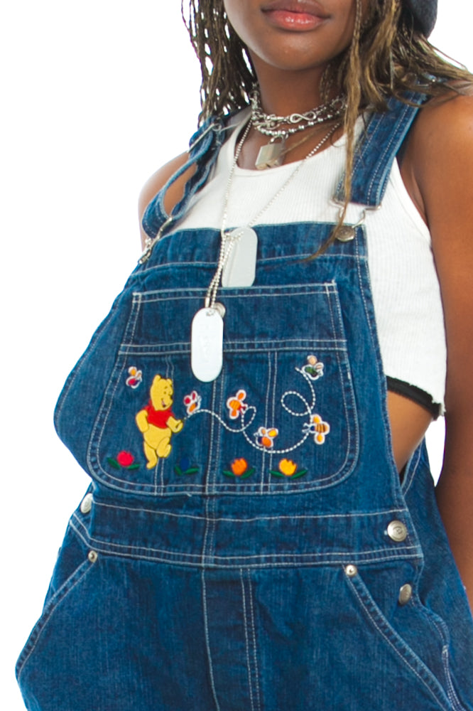 1b0c15ce5c9 Vintage 90 s Winnie the Pooh Busy Bee Overalls - One Size Fits Many ...