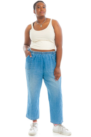 Vintage 90's Casual Sunday Stretch-Waist Mom Jeans - 2X/3X