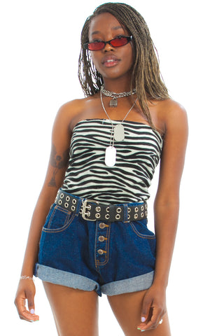 Vintage 90's Button-Fly Denim Shorts - M