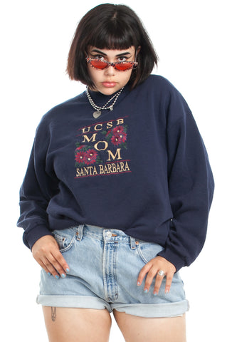 Vintage 90's UCSB Mom Sweatshirt - One Size Fits Many