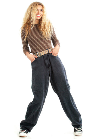Vintage 90's Back in Black Wrangler Mom Jeans - M/L