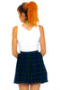Vintage 80's Union-Made Plaid Mini Kilt Skirt - XXS