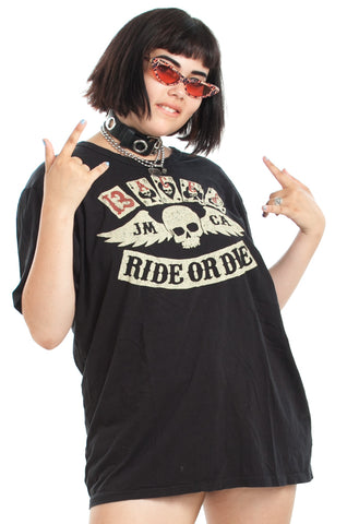 Vintage Y2K Ride or Die Johnson Motors Tee - One Size Fits Many