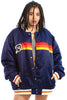 Not-Quite-Vintage 00's Rocawear Rainbow Satin Bomber - One Size Fits Many