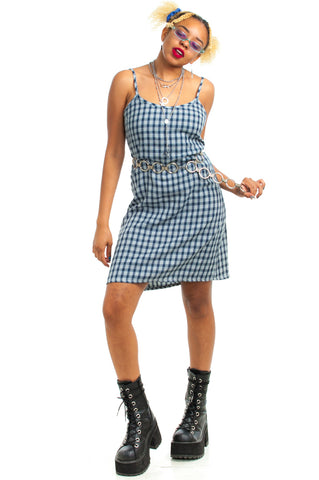 Vintage 90's Rampage Plaid Mini Dress - XS/S