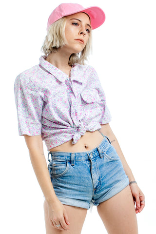 Vintage 80's Giverny Baby Button Up - XS/S