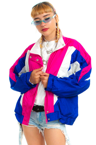 Vintage 90's Vibe On Windbreaker - One Size Fits Many