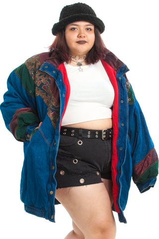 Vintage 90's Patchwork Dream Jacket - XL/2X/3X
