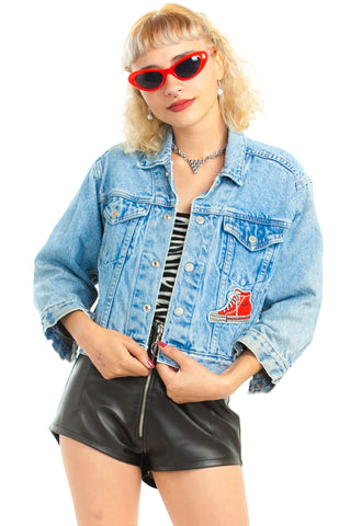 Vintage 90's Gap Denim Baller Jacket - XS