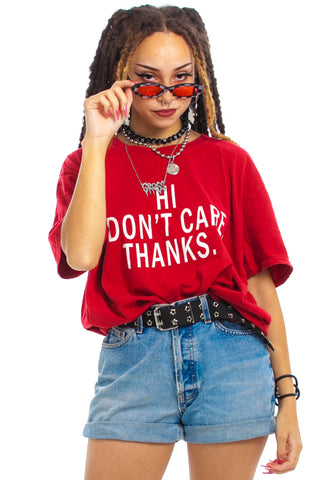 Vintage 90's I Don't Care Tee - One Size Fits Many