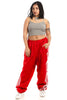 Not-Quite-Vintage Racing Red Track Pants - One Size Fits Many