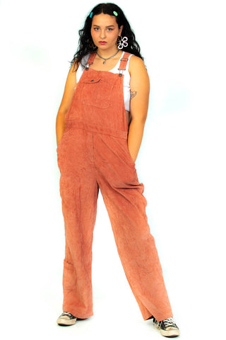 Vintage 90's Dusty Rose Corduroy Overalls - XL/2X