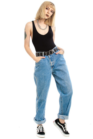 Vintage 90's It's a Cinch! High-Waisted Mom Jeans - M/L