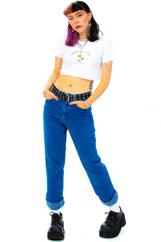 Vintage Y2K Mid-Rise Mom Jeans - S/M