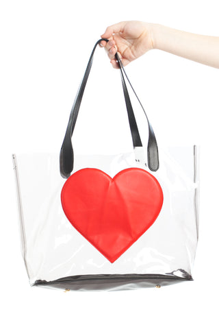 Vintage 90's Love Is the Drug Clear PVC Bag