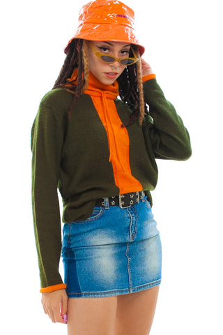 Vintage Y2K Tangerine Mix Turtleneck - One Size Fits Many