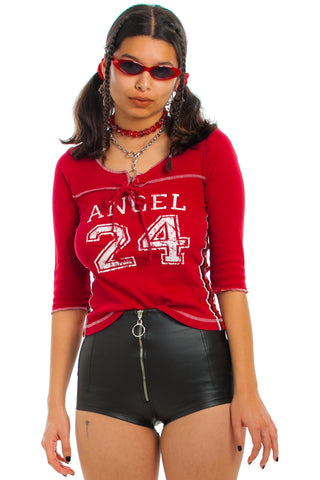 Vintage Y2K Angel 24 Glitter Sport Shirt - One Size Fits Many