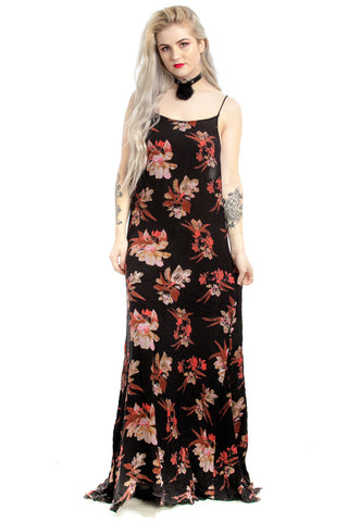 Vintage 90's Lady Killer Floral Maxi Dress - One Size Fits Many