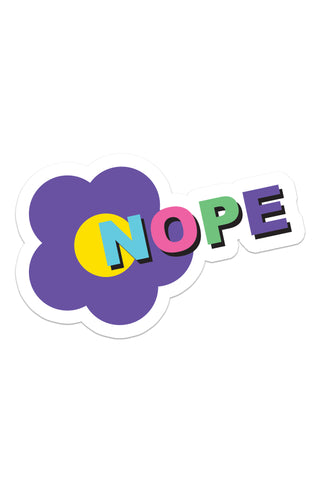 Nope Flower Sticker