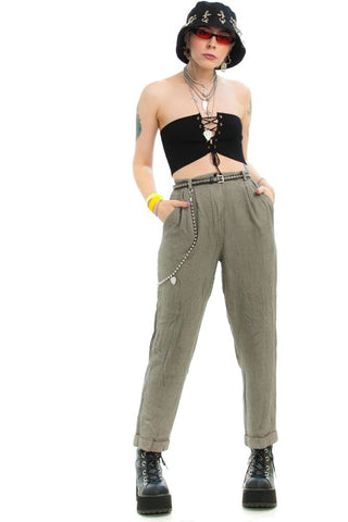 Vintage 90's Tally Check Trousers - XS/S