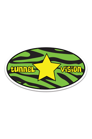 Zebra Star Logo Sticker