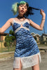 Josie Blue Cheetah Mini Slip Dress