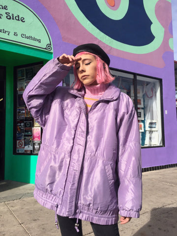 TUCSON Vintage 90's Iridescent Lavender Puffer Jacket - One Size Fits Many