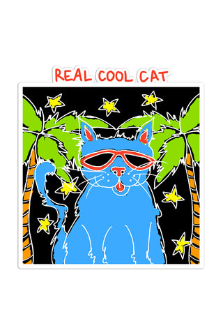 Real Cool Cat Sticker