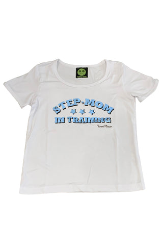 Step-Mom In Training Rib Knit Baby Tee