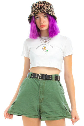 Vintage Y2K Cargo Girl D-ring Shorts - L