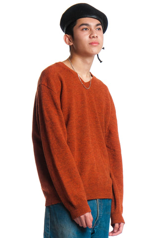 Vintage 90's Turnt Orange Sweater - S/M/L