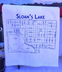 Sloan's Lake Tea Towel