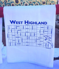 West Highland Tea Towel