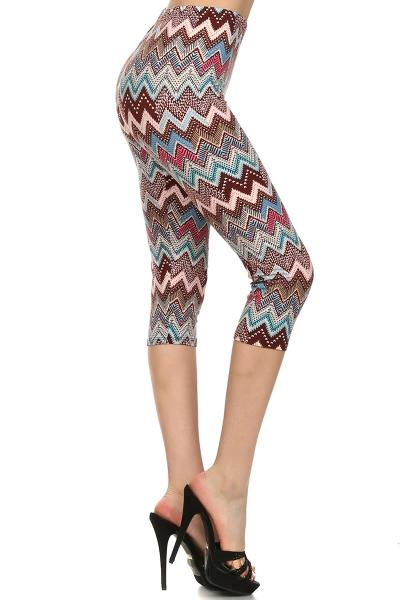 Pastel Chevron Dream Capris