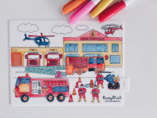 Busy Mat Travel Series: Fire Fighter