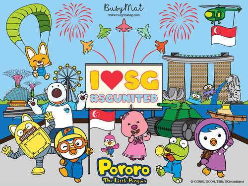 Busy Mat Premium Pororo Collaboration Series: Pororo Loves Singapore