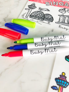 Busy Mat Trio Colour Fine Tip Markers