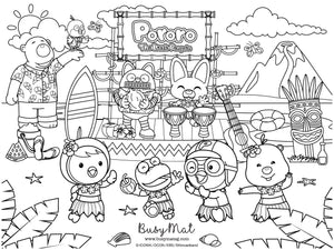 Busy Mat Premium Pororo Collaboration Series: Let's go Hawaiian