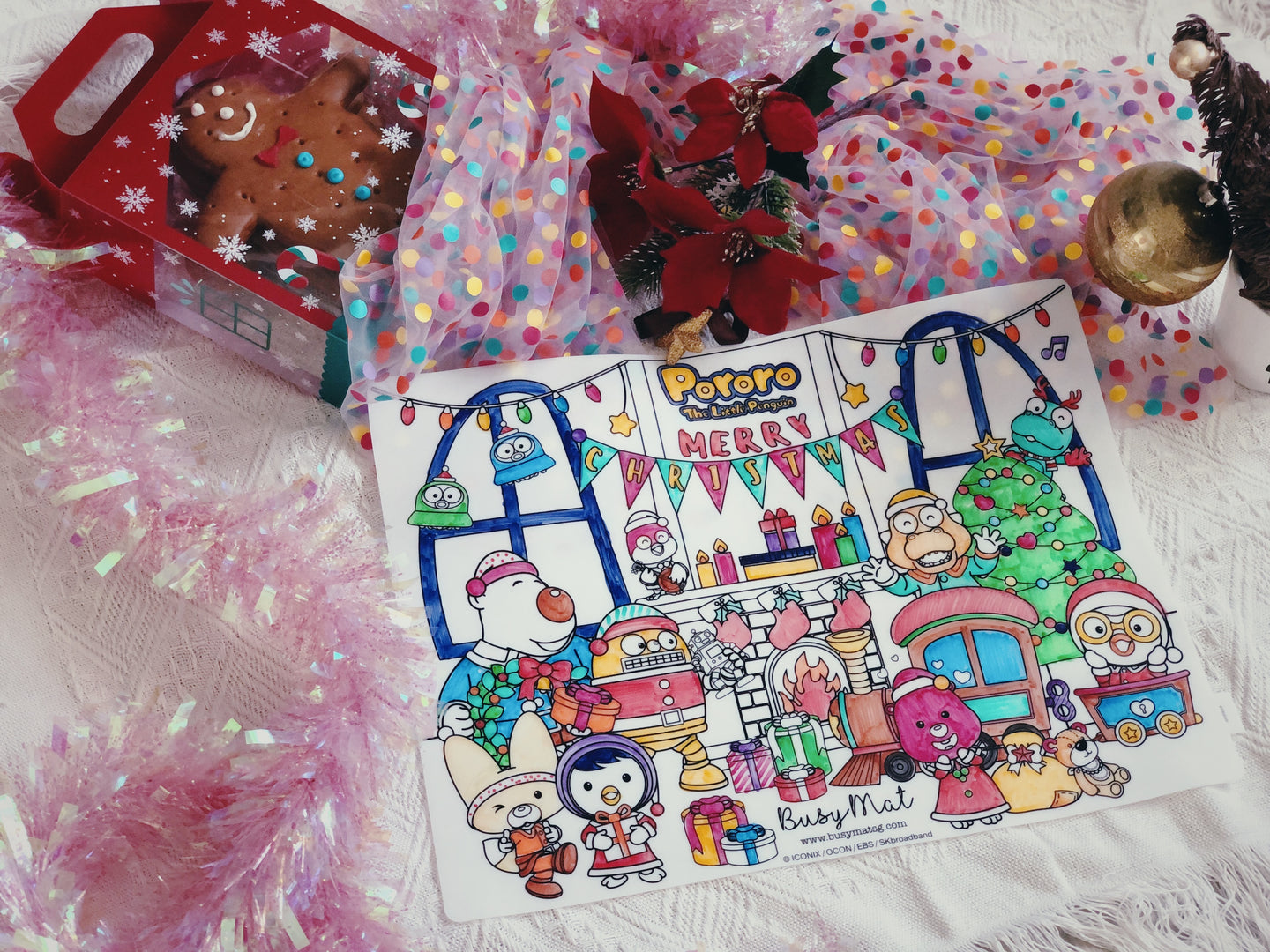 Busy Mat Premium Pororo Collaboration Series: Christmas at Home 🎄