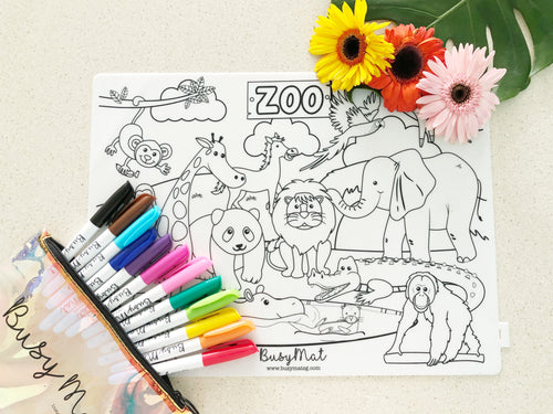 [BACKORDER: ETA 2nd week of Dec] Busy Mat Premium Series: Zoo Animals