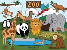 Load image into Gallery viewer, Busy Mat Premium Series: Zoo Animals