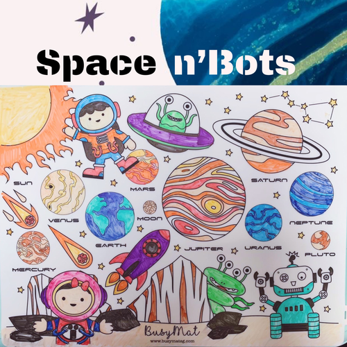 Busy Mat Premium Series: Space n'Bots