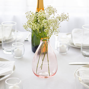 Personalized Blush Rose Glass Vase